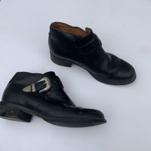 Ariat women's black mini boots leather